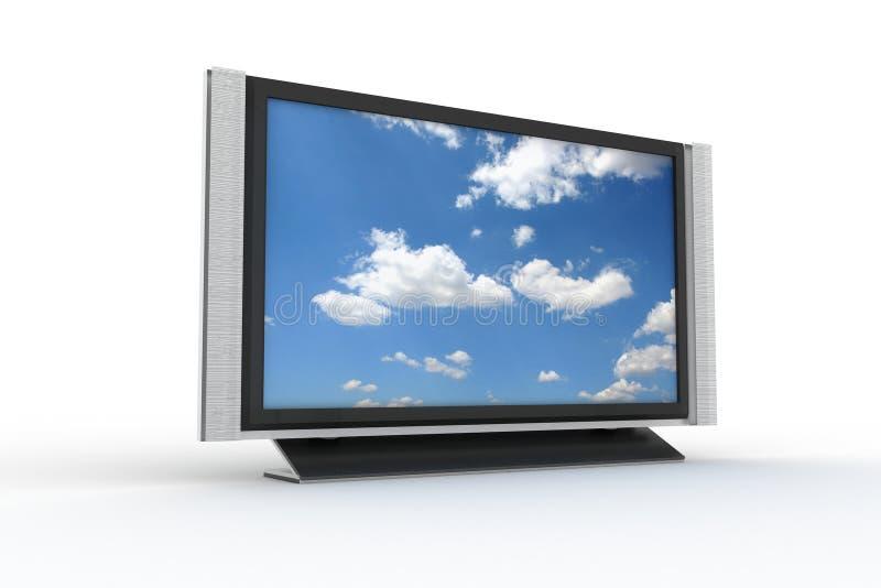2等离子时髦的电视 皇族释放例证