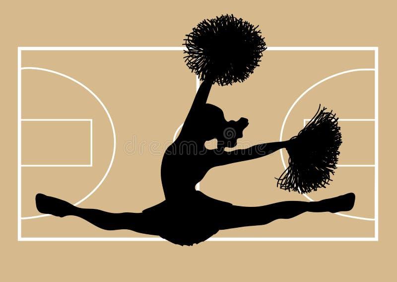 2篮球啦啦队员 库存例证