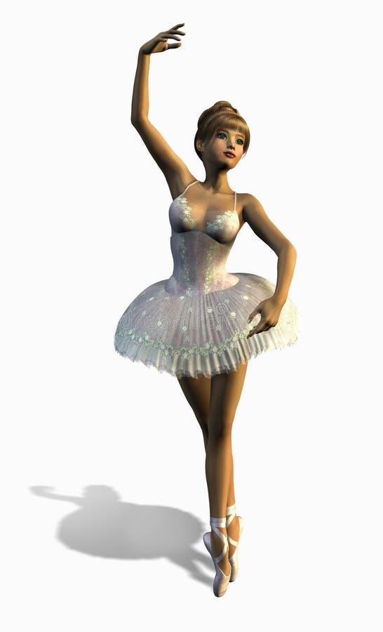 2芭蕾剪报舞蹈演员路径 向量例证