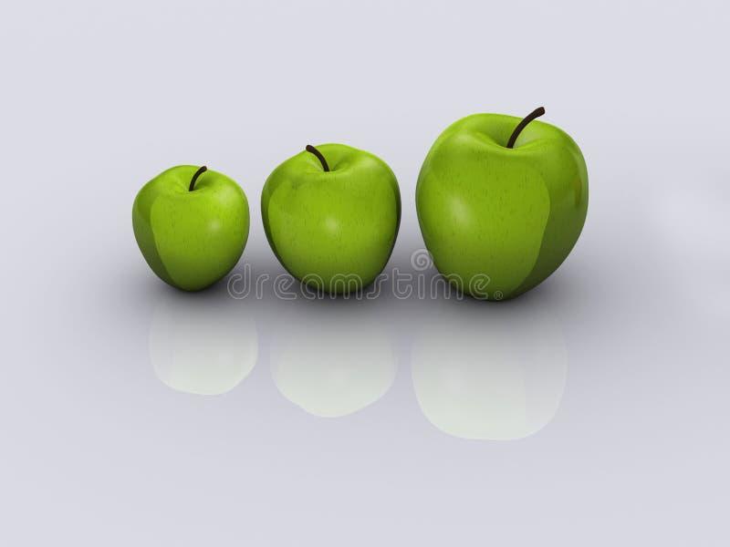 2苹果 向量例证