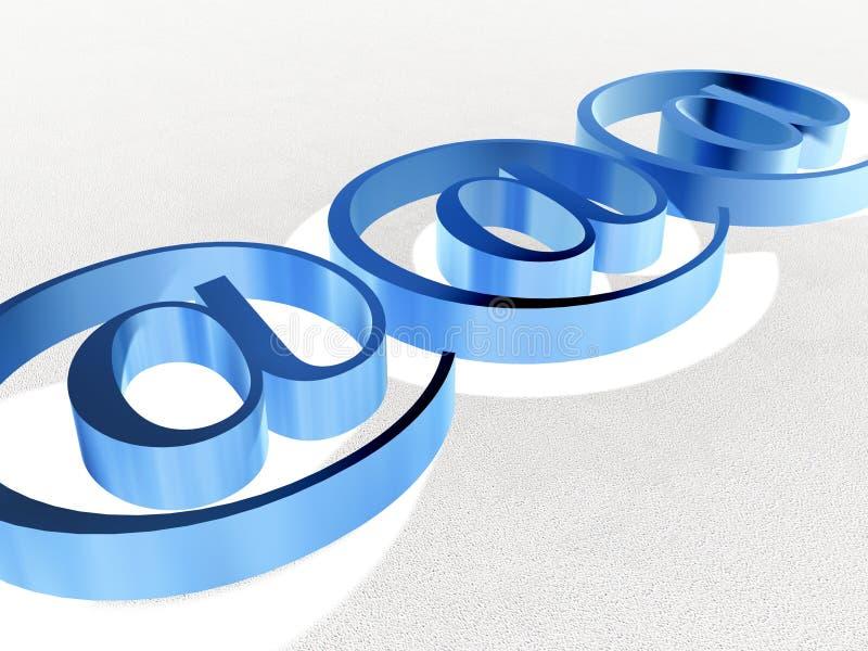 2蓝色符号万维网 库存例证