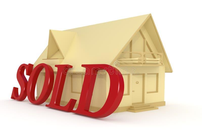 2被出售的房子 向量例证