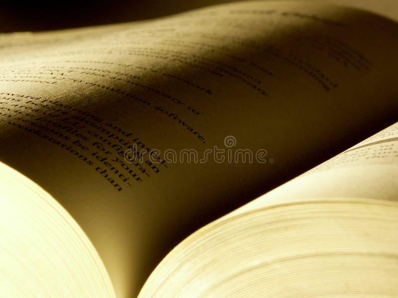 2被开张的书 免版税库存图片