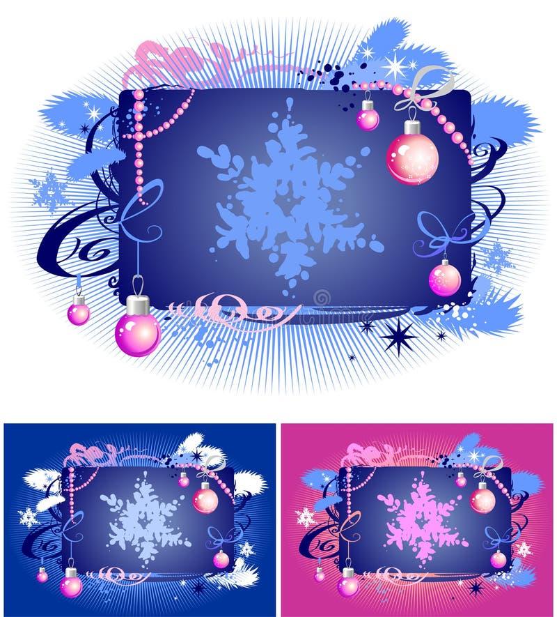 2装饰冬天 库存例证