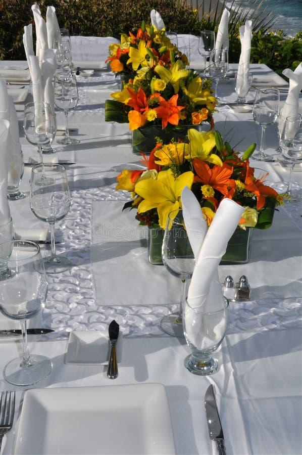 2设置的表婚礼 免版税库存照片