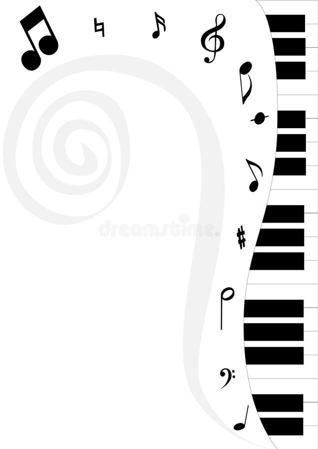 2谱号钢琴 库存例证