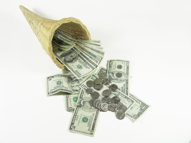 2货币大量 免版税库存照片