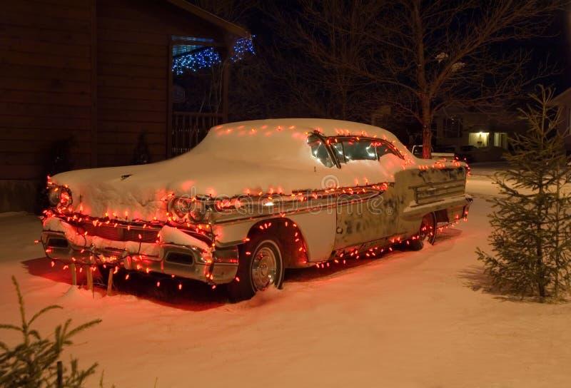 2辆汽车圣诞节 图库摄影