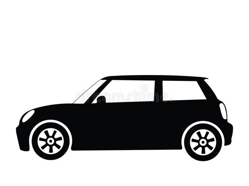 2辆汽车小的向量 向量例证
