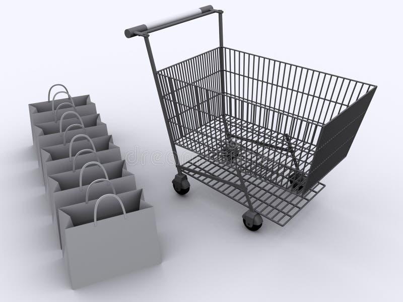2辆购物车购物 免版税库存图片