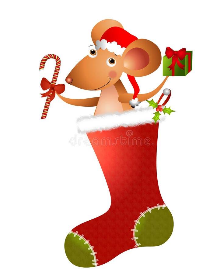 2部动画片圣诞节鼠标 库存例证