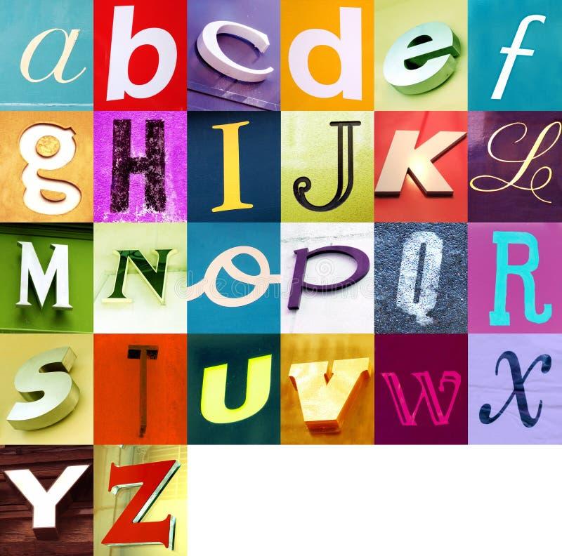 2都市的字母表 库存照片
