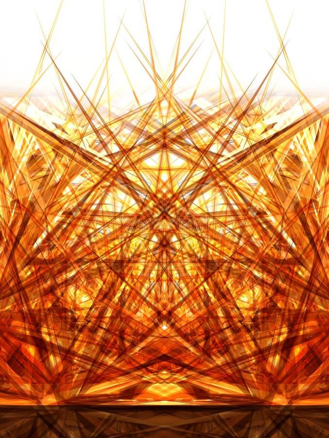 2金黄的扩散 向量例证
