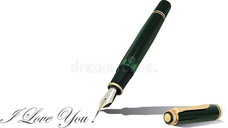 2钢笔 皇族释放例证