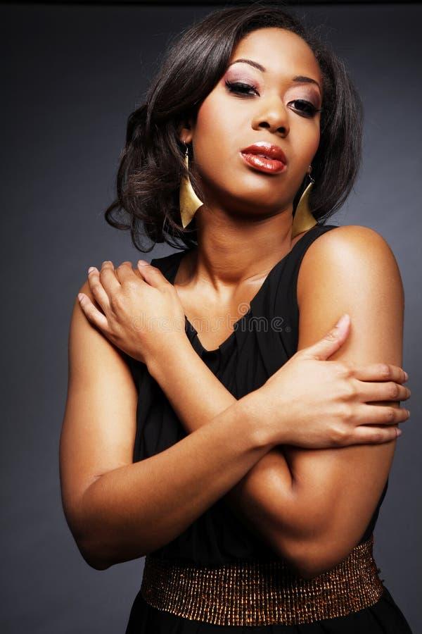 2非洲裔美国人的美丽的女孩 免版税库存图片