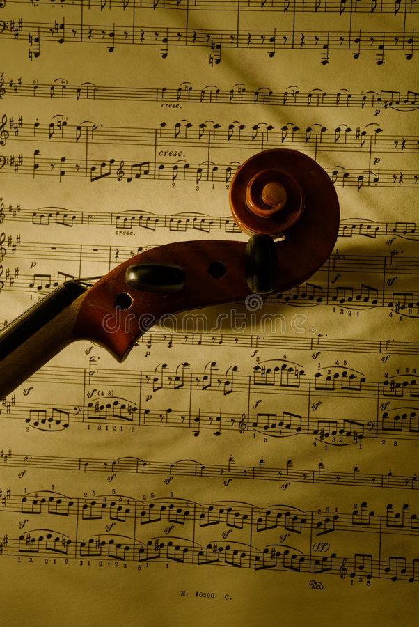2顶头小提琴 库存图片
