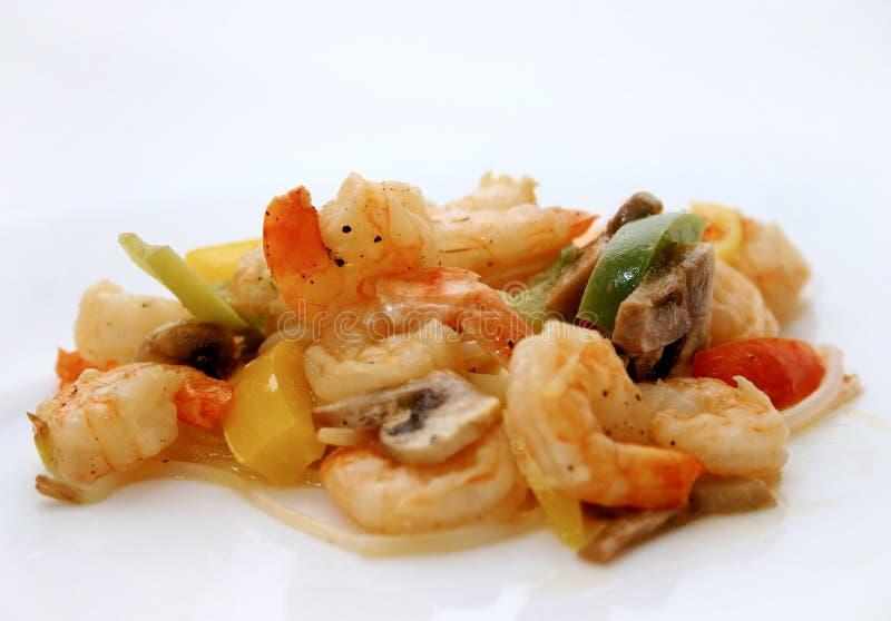 2顿膳食虾 免版税图库摄影