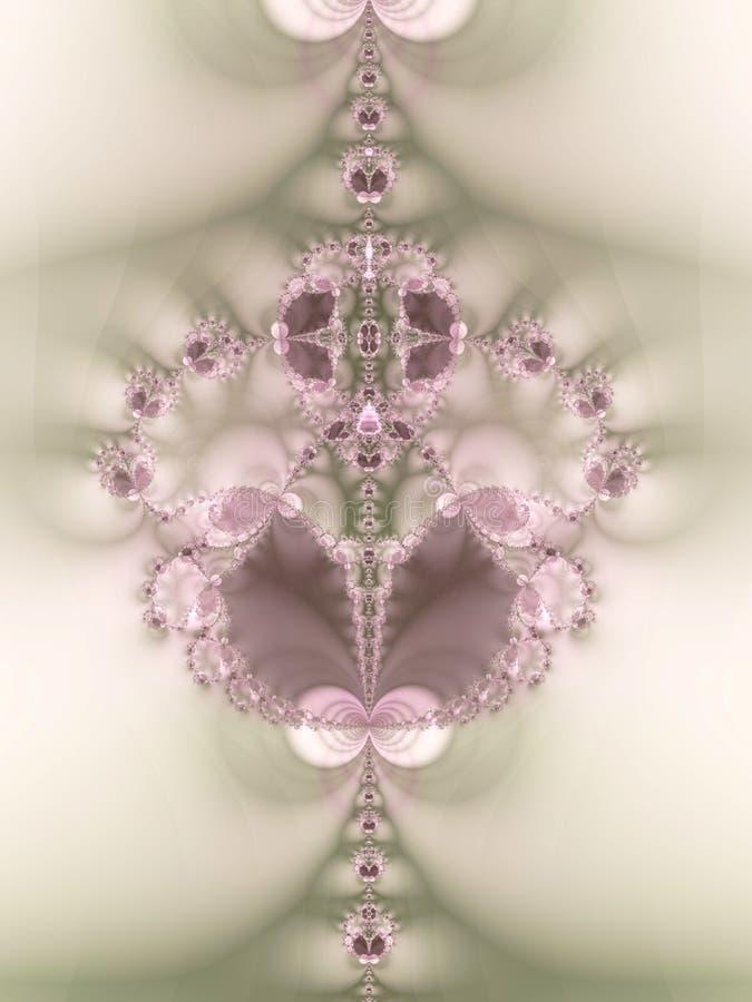 2颗分数维珠宝鞋带珍珠 向量例证