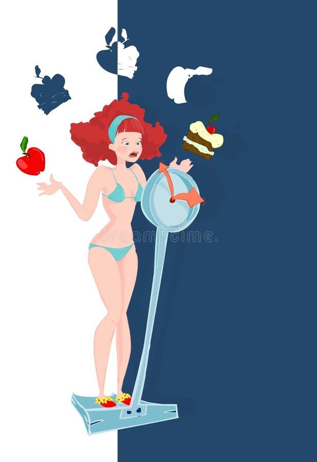 2饮食 向量例证