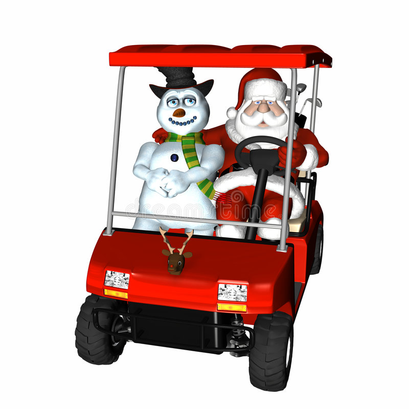 2高尔夫球圣诞老人 库存例证