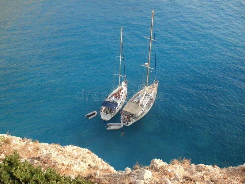 2 łodzi zdjęcie royalty free
