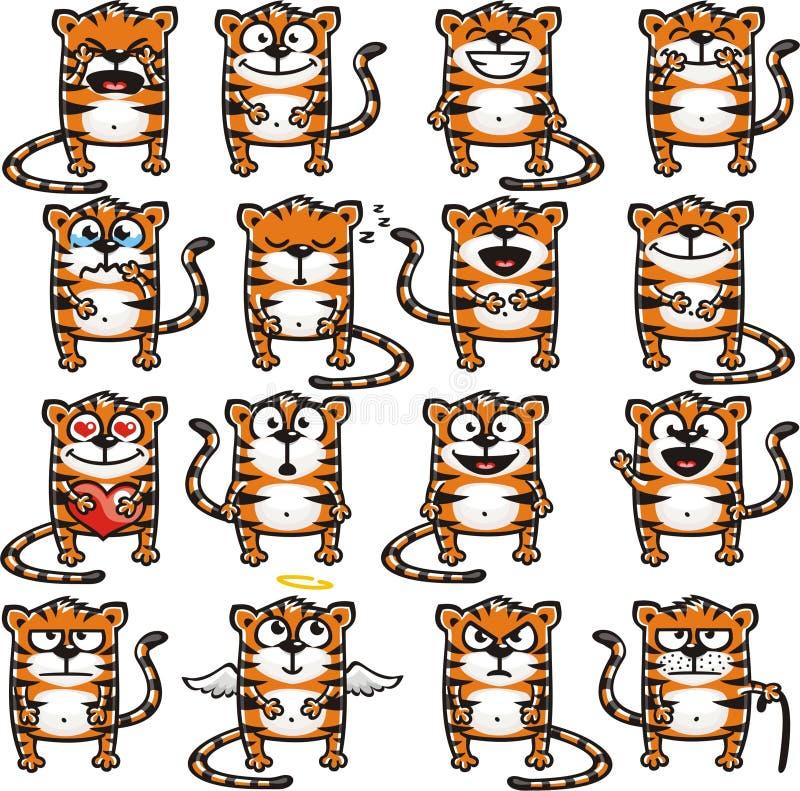 2 śmiesznego tygrysa royalty ilustracja