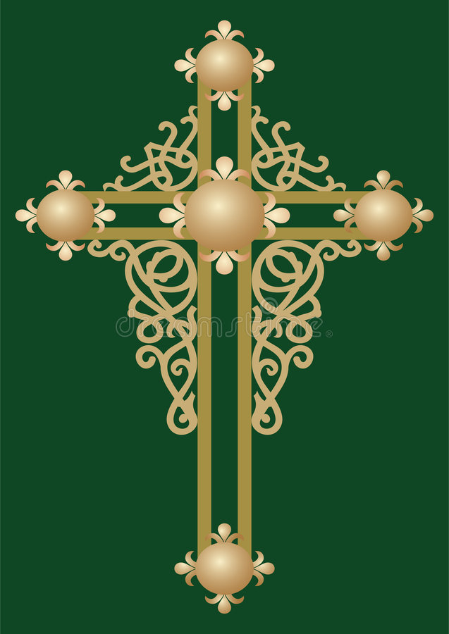 2 święty chrześcijanina przecinającego ilustracji