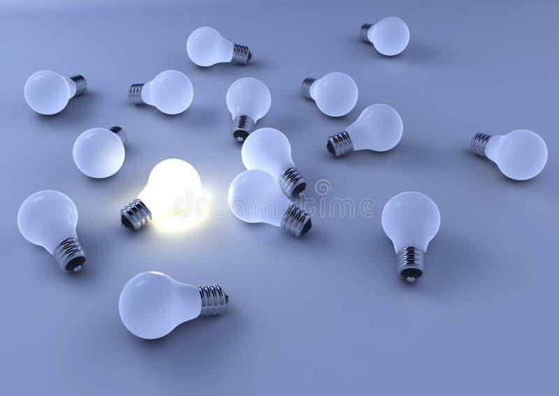 2 światła żarówki ilustracji