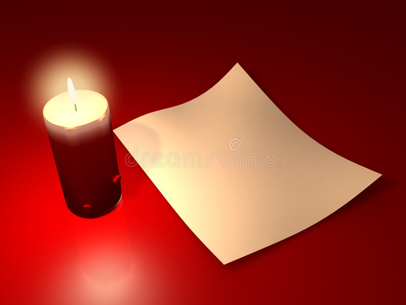 2 świece. ilustracja wektor