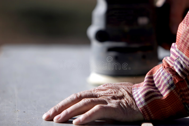 2 έμπειρο Sander ισχύος χεριών Στοκ Εικόνες