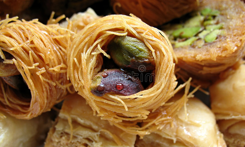 2 αραβικά γλυκά στοκ εικόνα