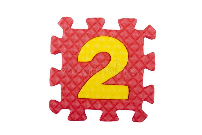 2 αριθμός στοκ εικόνα