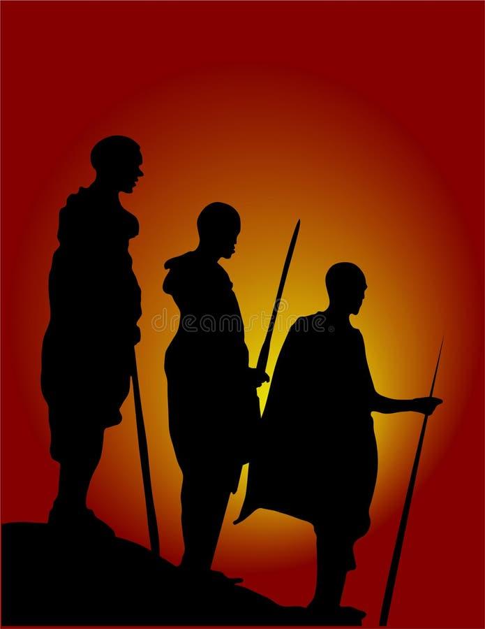 2 Αφρική επανδρώνουν ελεύθερη απεικόνιση δικαιώματος