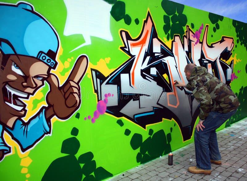 2 γκράφιτι καλλιτεχνών στοκ εικόνες