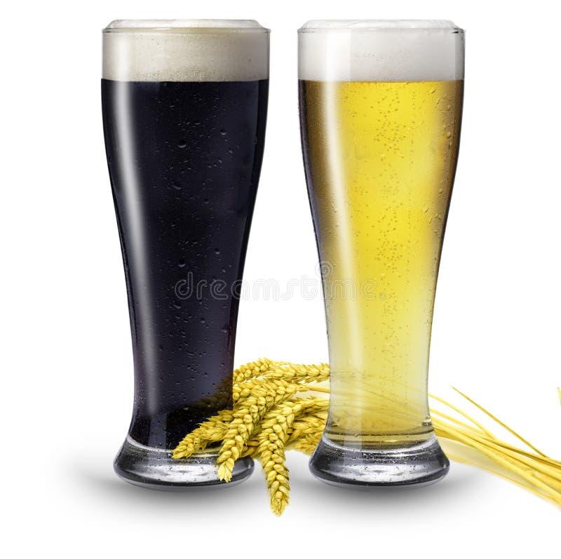2 γυαλιά μπύρας στοκ φωτογραφία με δικαίωμα ελεύθερης χρήσης