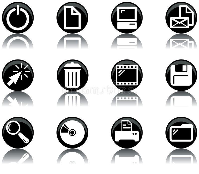 2 εικονίδια υπολογιστών που τίθενται απεικόνιση αποθεμάτων