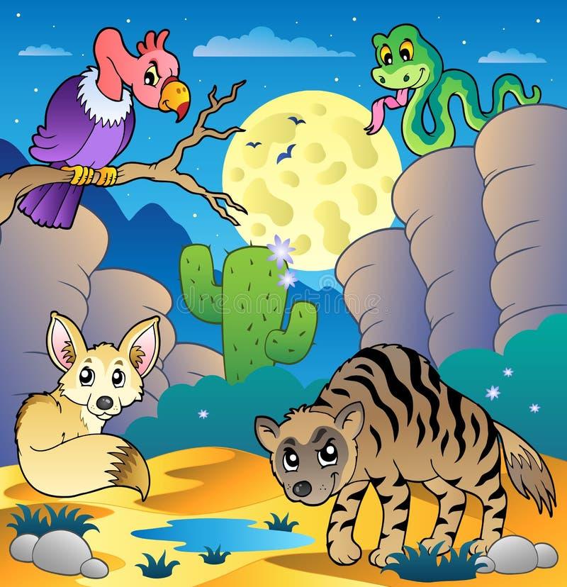 2 ζώα εγκαταλείπουν τη σκηνή διάφορη διανυσματική απεικόνιση