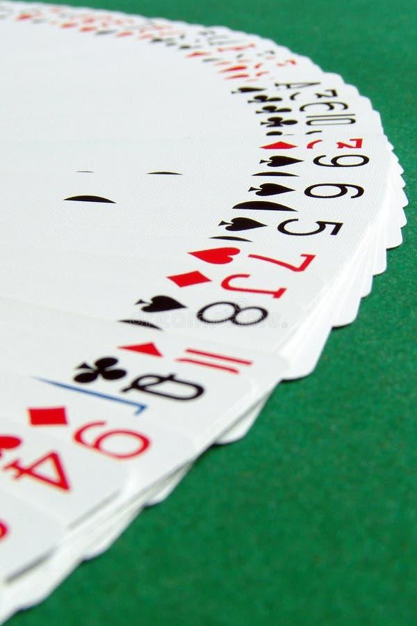 2 κάρτες αντιμετωπίζουν τ&omic στοκ φωτογραφίες
