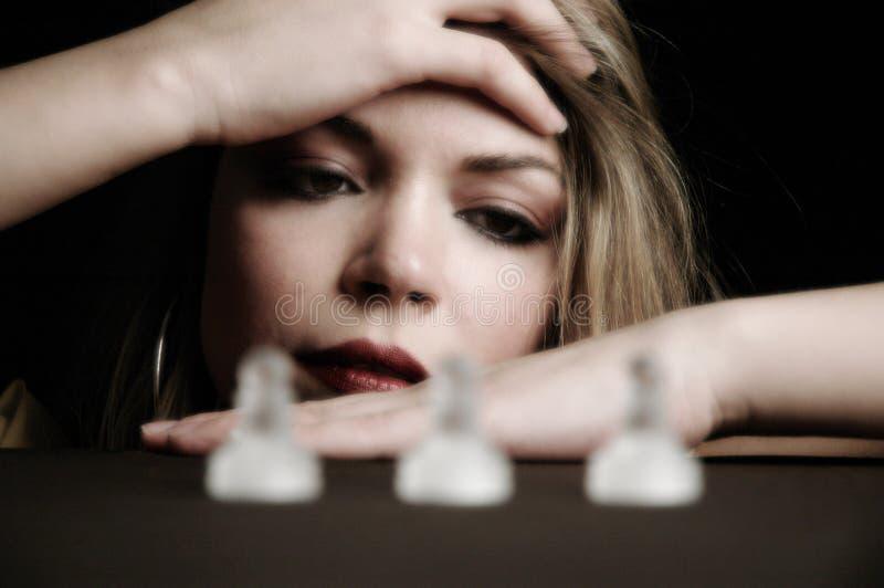 2 κομμάτια σκακιού στοκ εικόνες