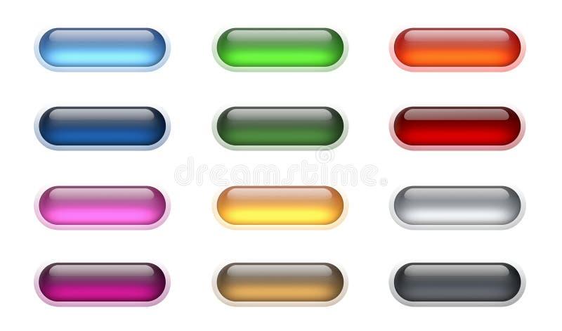 2 κουμπιά aqua απεικόνιση αποθεμάτων