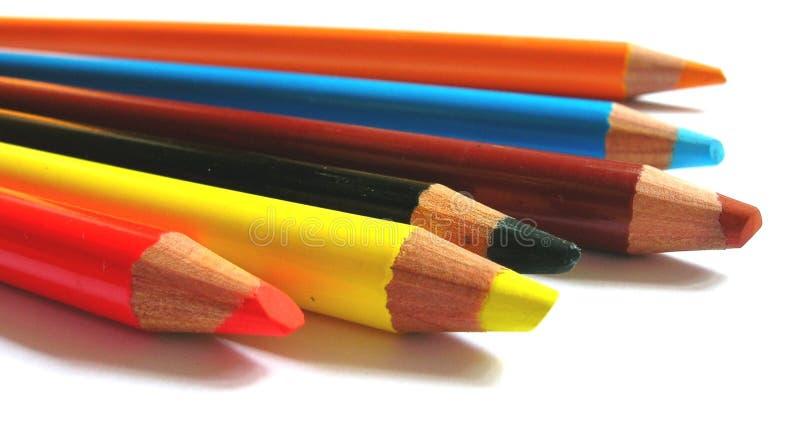 Download 2 μολύβια στοκ εικόνα. εικόνα από πορτοκάλι, arroyos, δημιουργικός - 109135