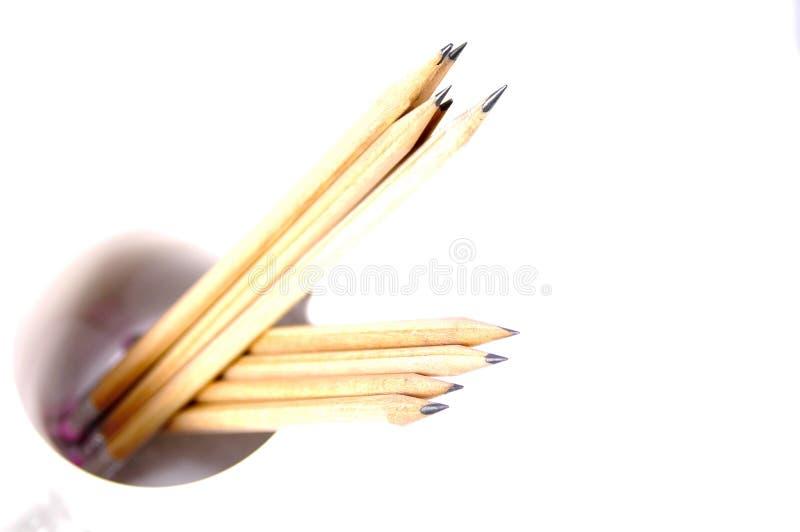 2 μολύβια στοκ εικόνες