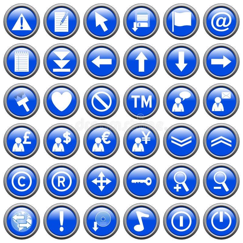 2 μπλε κουμπιά γύρω από τον Ι&