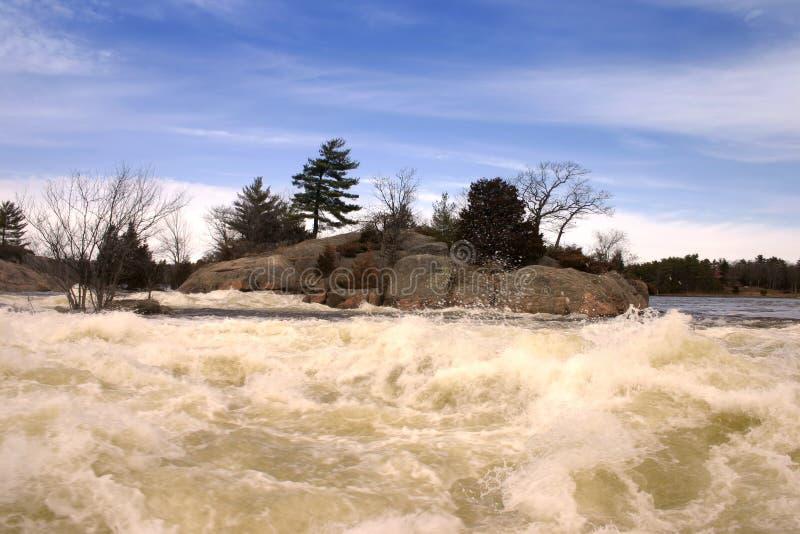 2 ορμητικά σημεία ποταμού στοκ εικόνες