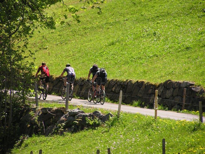 2 ποδηλάτες Στοκ Εικόνες