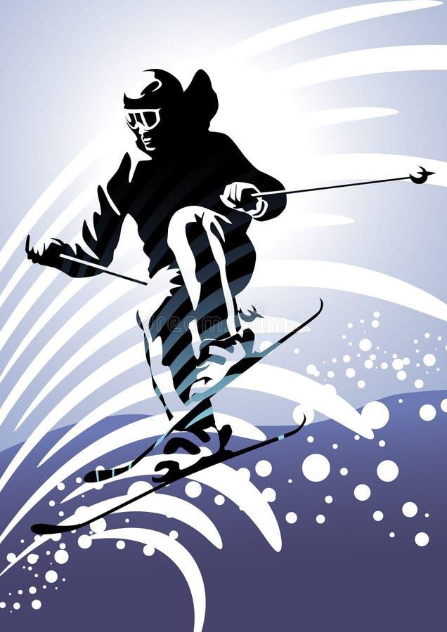 2 προς τα κάτω να κάνει σκι &alpha απεικόνιση αποθεμάτων