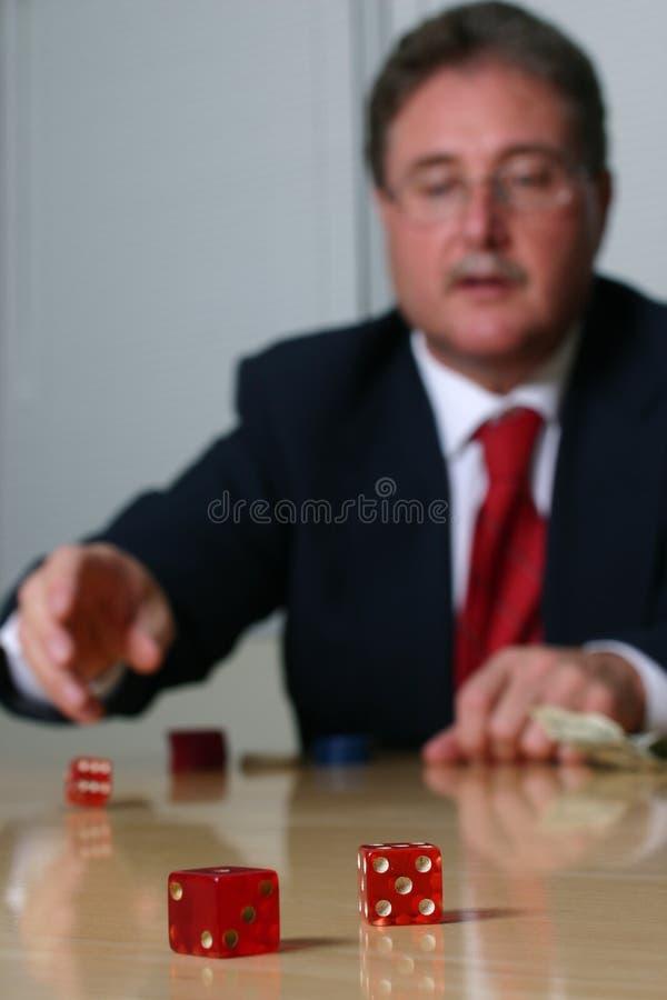 2 σειρές επιχειρησιακού τυχερού παιχνιδιού στοκ φωτογραφία