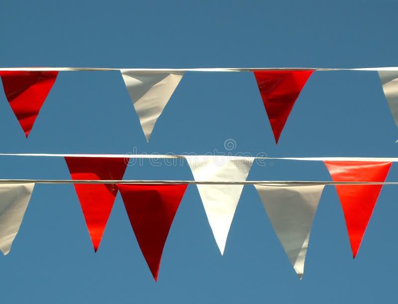 2 σημαίες εορτασμού στοκ εικόνες