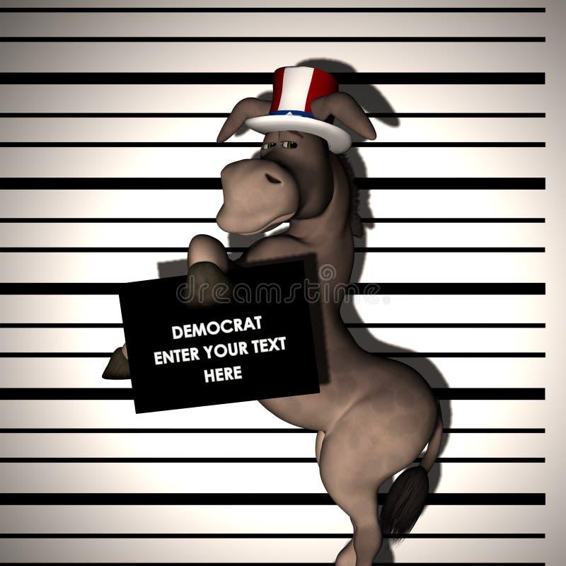 2 συλλήφθείτε δημοκράτης απεικόνιση αποθεμάτων