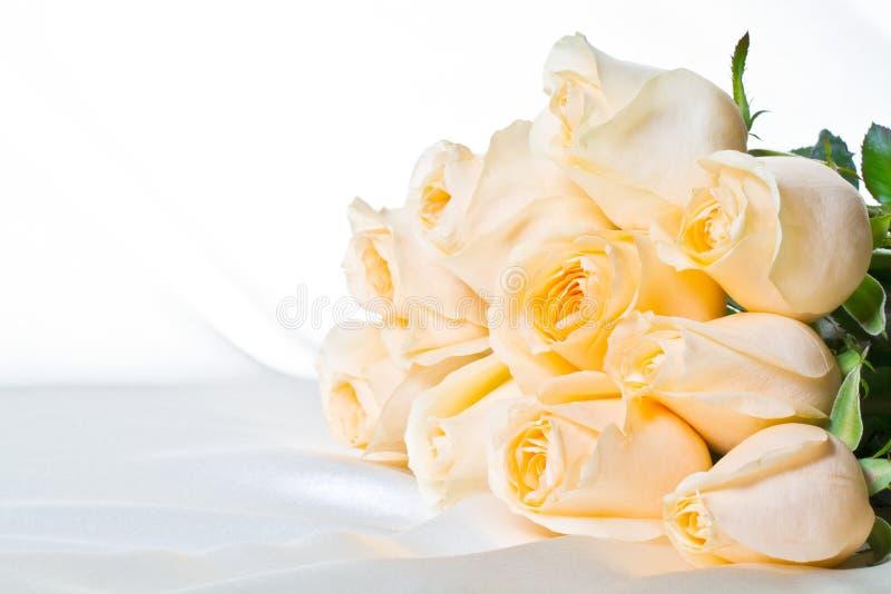 2 τριαντάφυλλα σαμπάνιας στοκ εικόνα
